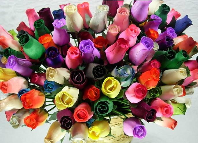 Closed Bud Wooden Roses Boxes Of 800