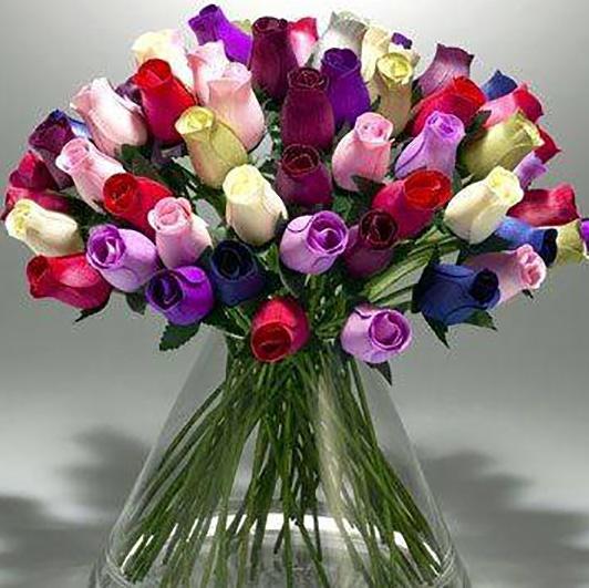 Half Open Wooden Roses Box Of 600 Elegant Wooden Roses